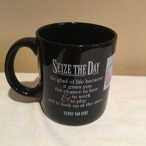 Seize the Day Positively Mug Black